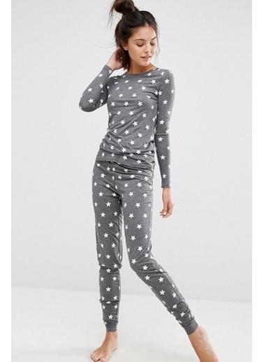 Merry See Pijama Takım Gri